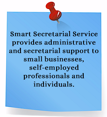 Smart Secretarial Service provides administrative and secretarial support to Bergen County New Jersey small businesses, self employed professionals and individuals.