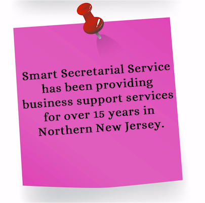 Smart Secretarial Service has been providing business support services for over 15 years to businesses in Bergen County New Jersey and in Northern New Jersey
