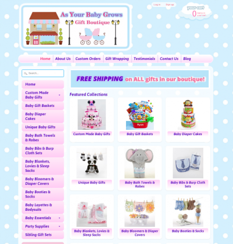 As Your Baby Grows Custom Shopify Website Design